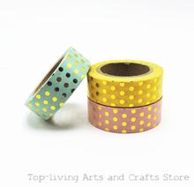 New Dots Foil Washi Tape Scrapbooking Tools Cute Decorative  Adhesiva Decorativa Japanese Stationery Washi Tapes Mask