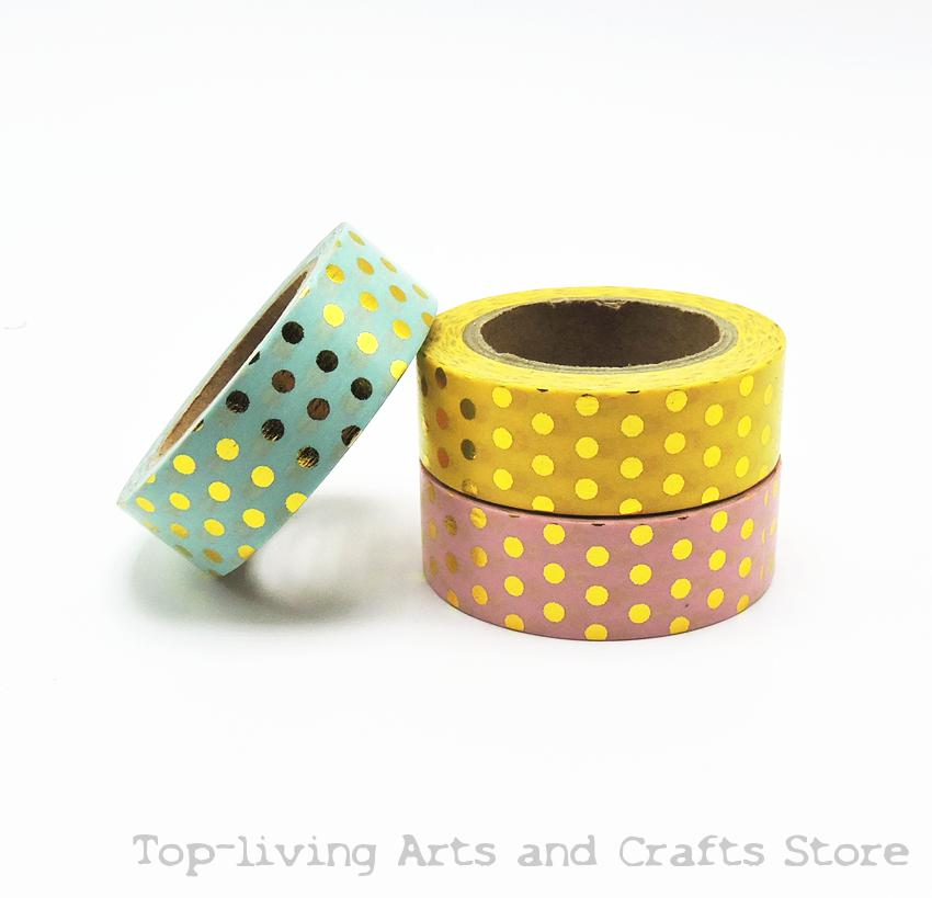 New Dots Foil Washi Tape Scrapbooking Tools Cute Decorative   Japanese Stationery Washi Tapes Mask