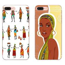 Africa Women Figures For Galaxy A3 A5 A7 A8 A9 A9S On5 On7 Plus Pro Star 2015 2016 2017 2018 Soft TPU Fashion Mobile Phone(China)