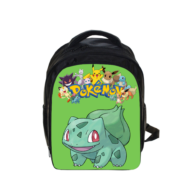 98a3a7663ad7 Cartoon Pokemon Bulbasaur Printing Kindergarten Bags Backpack Kids Boys  Pokemon Book Bag Primary School Bag Children Backpack