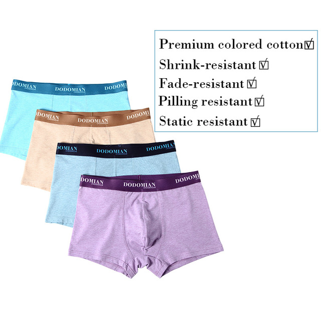 Men's Cotton Plus Size Boxers 4 Pcs Set