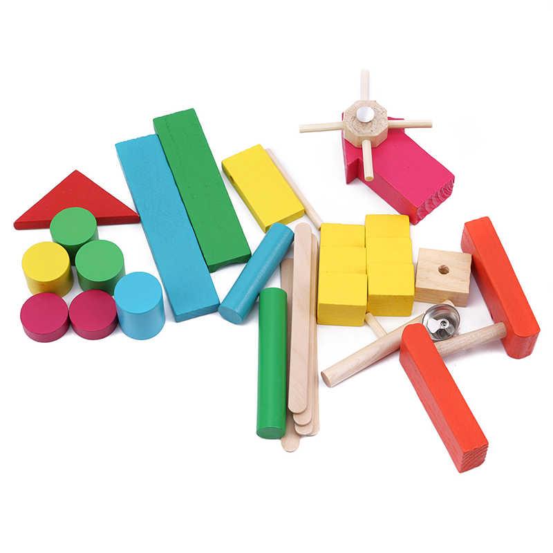 1 Набор цветные деревянные аксессуары для домино, блоки, пазлы для взрослых, игры в домино, Монтессори, игрушки для детей