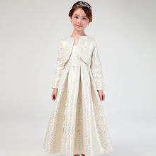 Elegant European Long Style Girls Dresses Fancy Formal Princess Vestidos 2017 Children Clothes For Girls 12