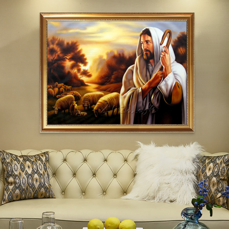 Home Interior Jesus: Home Decor Jesus Christ The Good Shepherd Art Decor Poster