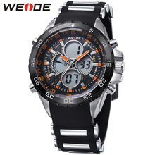 купить Fashion Top Brand WEIDE Running Sport Watch Men Digital Quartz LED Alarm Rubber Band 30m Waterproof Man Wristwatch Montre Homme онлайн