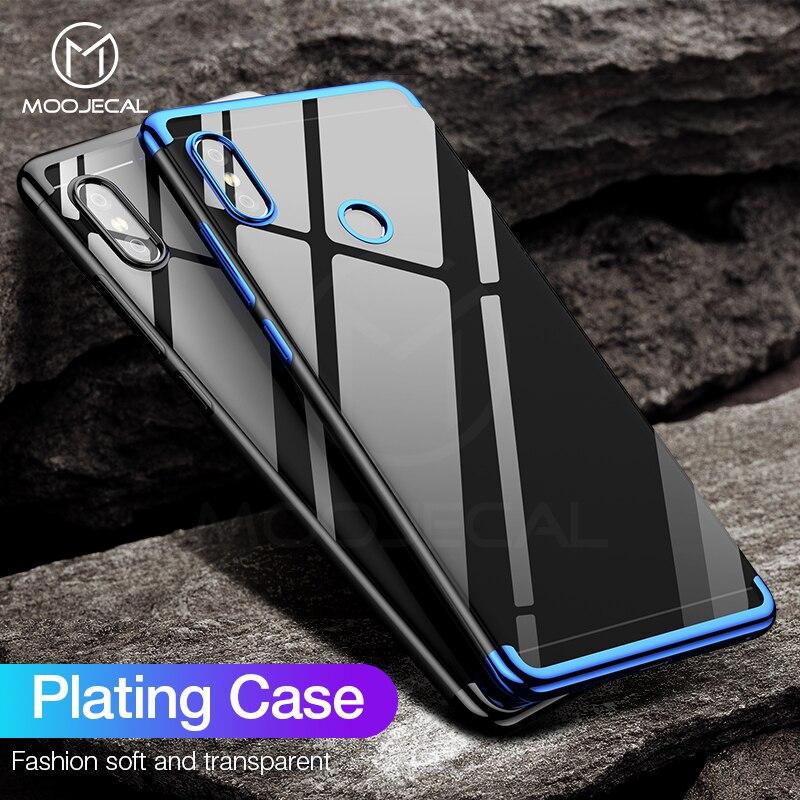 MOOJECAL Case For Xiaomi Mi A2 A1 Luxury silicone plating Soft TPU Case For Xiaomi Mi 5X Transparent Cover Case For xiaomi Mi 6X