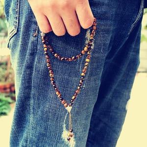 Image 5 - Handmade 6mm Natural stone bead with Alloy charm Shape 99 Prayer Beads Islamic Muslim Tasbih Allah Mohammed Rosary for women men