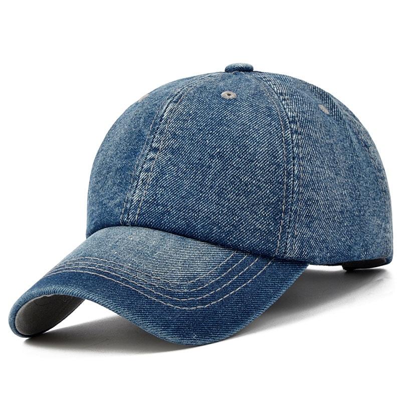 Plain Adjustable Cowboy cap Denim Hat for Women And Men