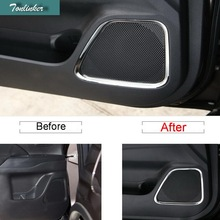 Tonliker 4 шт. DIY автомобиля Стайлинг Новый Нержавеющая сталь дверь Динамик чехол наклейки для Mitsubishi Outlander 2013-16