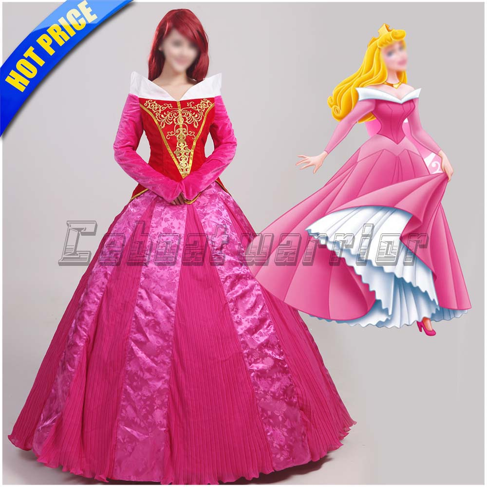 Movie Sleeping Beauty Princess Aurora cosplay costume Princess Aurora dress for adults custom made