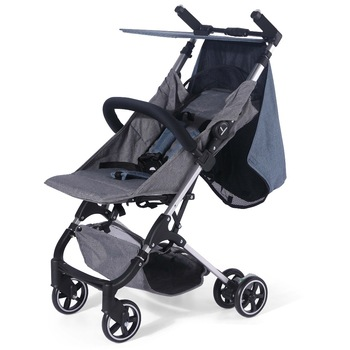 Playkids Super Lightweight Compact Baby Stroller Polyester+Cation Fabric PP+EVA Lightweight And Foldable baby pram
