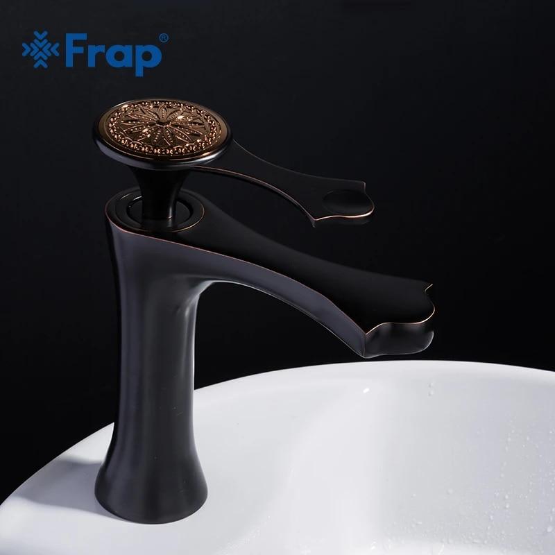 frap vintage black bathroom basin faucet copper material single handle bath tap spray paint cold and hot water mixer y10040