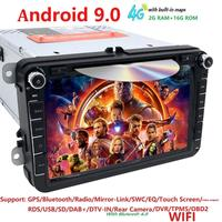8 Android 9.0 IPS DSP Car DVD Radio Stereo GPS Multimedia for Volkswagen VW Passat B6 Golf Tiguan Car Navigation USB Bluetooth