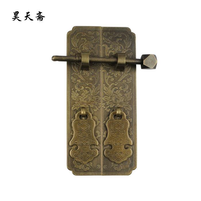 [Haotian vegetarian] antique copper antique furniture bookcase door pull hands HTC-280 Panzhihua wide trumpet [haotian vegetarian] antique furniture wardrobe handle door handle copper pull hands htc 220