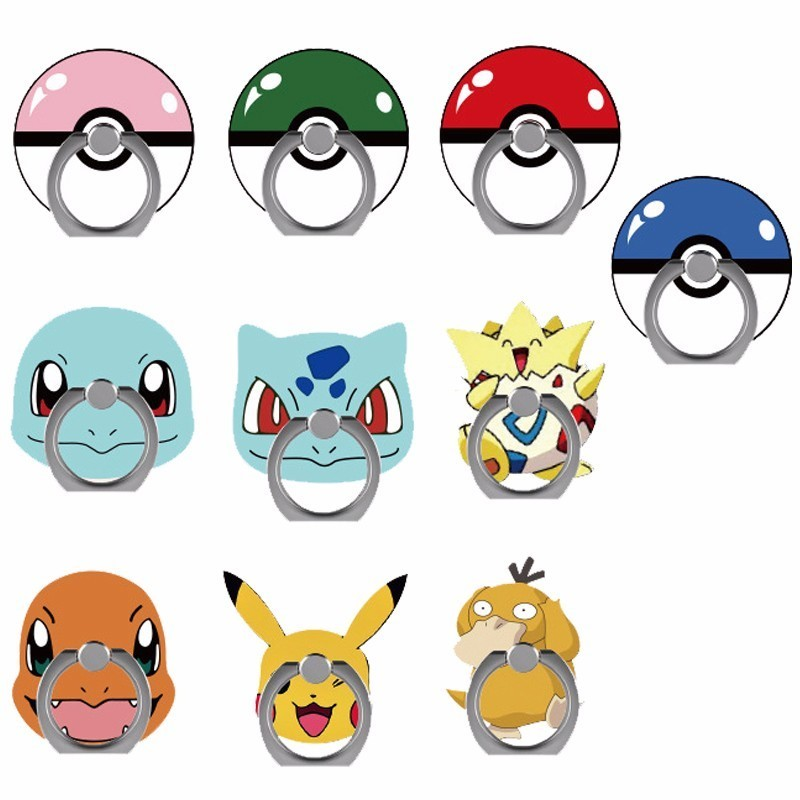 Pocket Monster Pikachu Poke Ball Mobile Phone Holder Stand Suitable For All Smartphones Pokemon Go Pikachu Cosplay Props