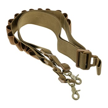 CQC Tactical 15 Round 12 Gauge 12GA Ammo Shell Cartridge Belt Airsoft Paintball Hunting Rifle Two Point Gun Sling Strap 5