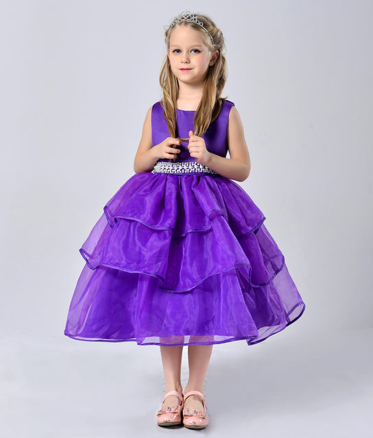Online Shop Children Clothing Year 6 7 8 9 10 11 Girls Layered Prom
