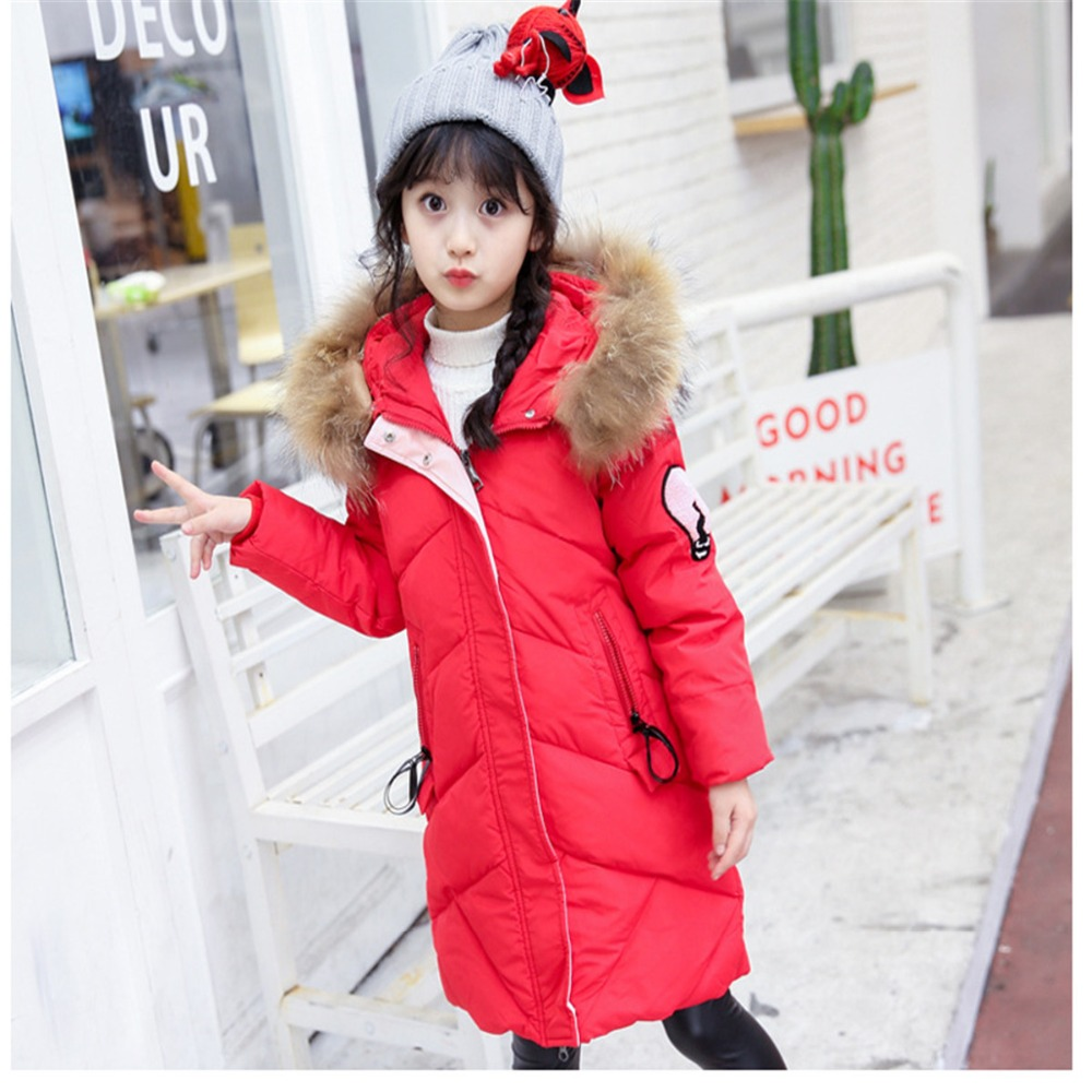 Children Duck Down Jackets Kids Fashion Winter Outerwear Thick Warm Long Model Hooded Fake Fur Girl Snow Wear Clothes Costume girl duck down jacket winter children coat hooded parkas thick warm windproof clothes kids clothing long model outerwear