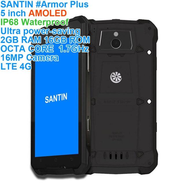 "SANTIN # armadura Plus 5 ""AMOLED Teléfono Móvil Inteligente a prueba de golpes a prueba de agua resistente ip68 android smartphone teléfono móvil 4g teléfono"