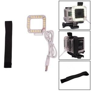 Image 3 - Andoer usb 20 led 액션 카메라 렌즈 링 슈팅 nightshot 플래시 필 라이트 램프 gopro hero 4 3 + 3 방수 하우징 케이스