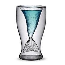 70 ml creativa Clear Glass Crystal sirena de la taza de vino copa de cóctel de regalos envío gratis