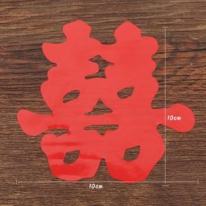 Image 5 - 6Pcs da Sposa Sticker Scala Doppia Felicità Cinese Adesivi Murali Forniture di Nozze Coppia Room Della Decorazione Della Casa Materna Carta da Parati