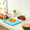 kitchen accessories creative drain tray hollow fruit vegetable dish tray drain plate storage rack shelving draining board