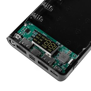 Image 4 - Double USB QC3.0 8x18650 batterie batterie batterie boîte 18650 chargeur de batterie étui pour iPhone Xiaomi téléphone portable tablette chargeur rapide