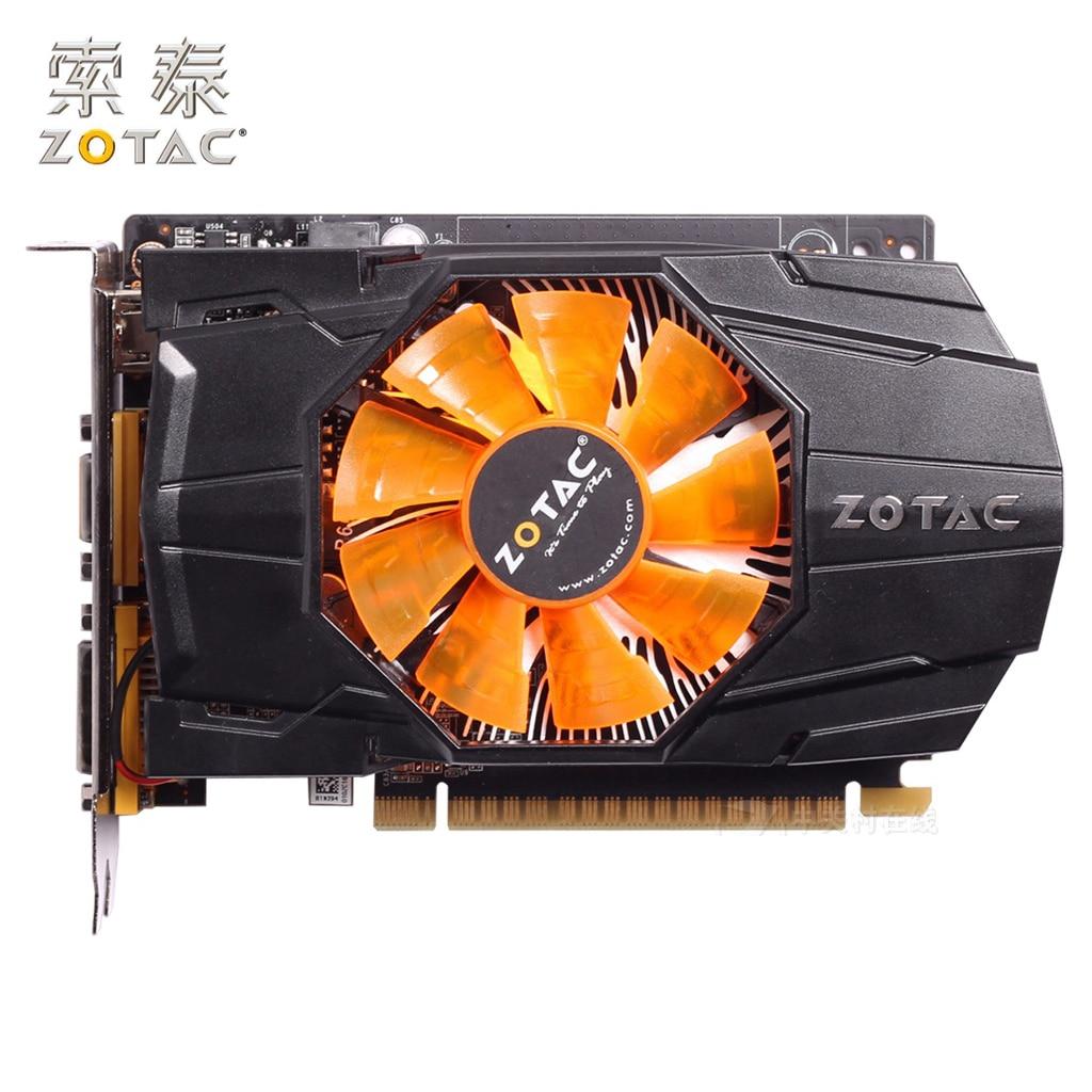 Original ZOTAC GeForce GTX 650-1GD5 Graphics Cards Internet PA For NVIDIA GTX600 GTX650 1GD5 1G Video Card 128bit Used GTX-650