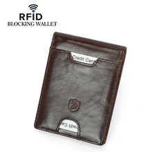Wholesale Brand Rfid Wallet Genuine Leather Fashion Coin Pocket Card Id Holders Design Purse High Quality Women