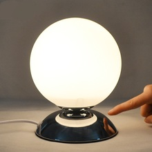 Single Head LED Table Lights NEW Glass Round Table Lamps Bedroom Bedside  Study Convenient Modern Simple