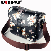 wennew Waterproof PU Leather Cover Photo Case Camera Bag for Nikon D5300 D7200 D750 D5600 D5400 D5200 D3400 D3500 D3000 D90 D80