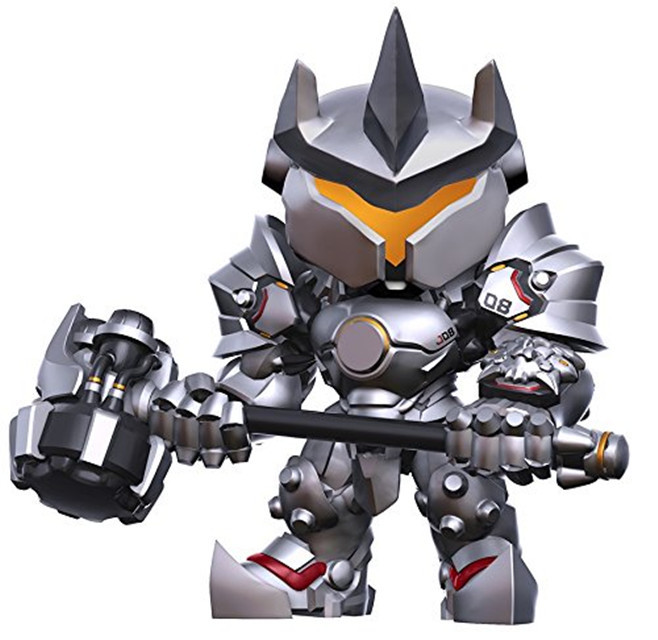 OW 15cm Game Character Reinhardt Wilhelm Vinyl Figure Toy all characters tracer reaper widowmaker action figure ow game keychain pendant key accessories ltx1
