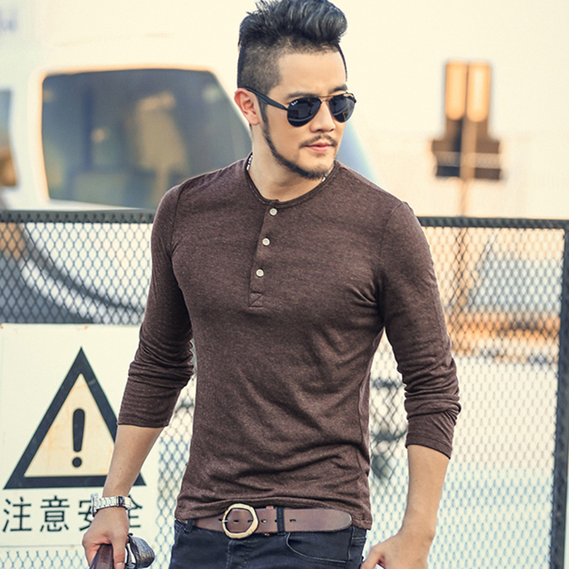 fee5d21170ac Hot Sale Classic Men T shirt Long Sleeve O neck Mens Cotton Tees Tops Male  Brand Pullover Plus size Mens Casual Sweatshirts