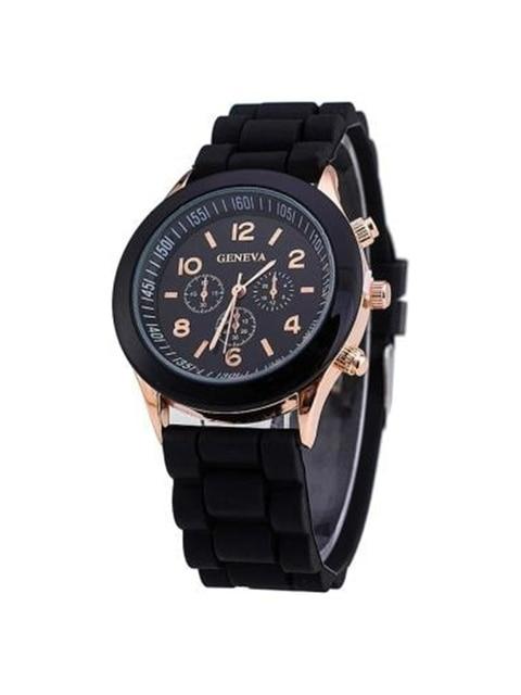 Hot Sales Geneva Brand Silicone Women Watch Ladies Fashion Dress Quartz Wristwat