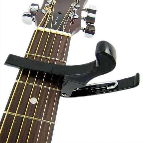 12pcs (Premium Quick Change Folk Acoustic Electric Guitar Banjo Trigger Capo Key Clamp 12pcs irin adjustable guitar strap for electric acoustic folk guitar coffee