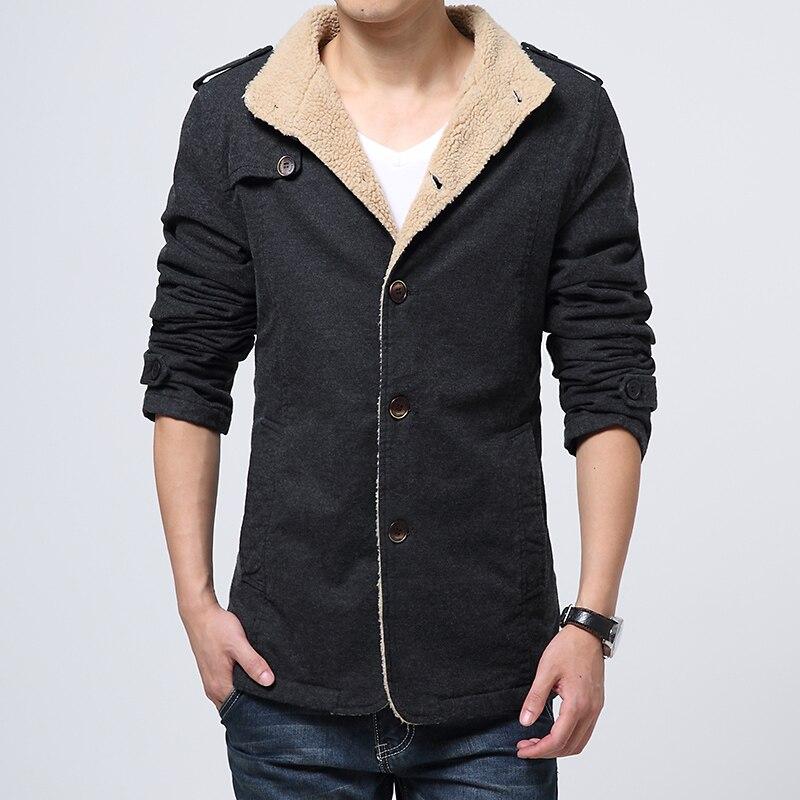 Coats Men Windbreaker-Jackets Long-Trench Jaqueta Parkas Plus-Size Winter Men's Cotton