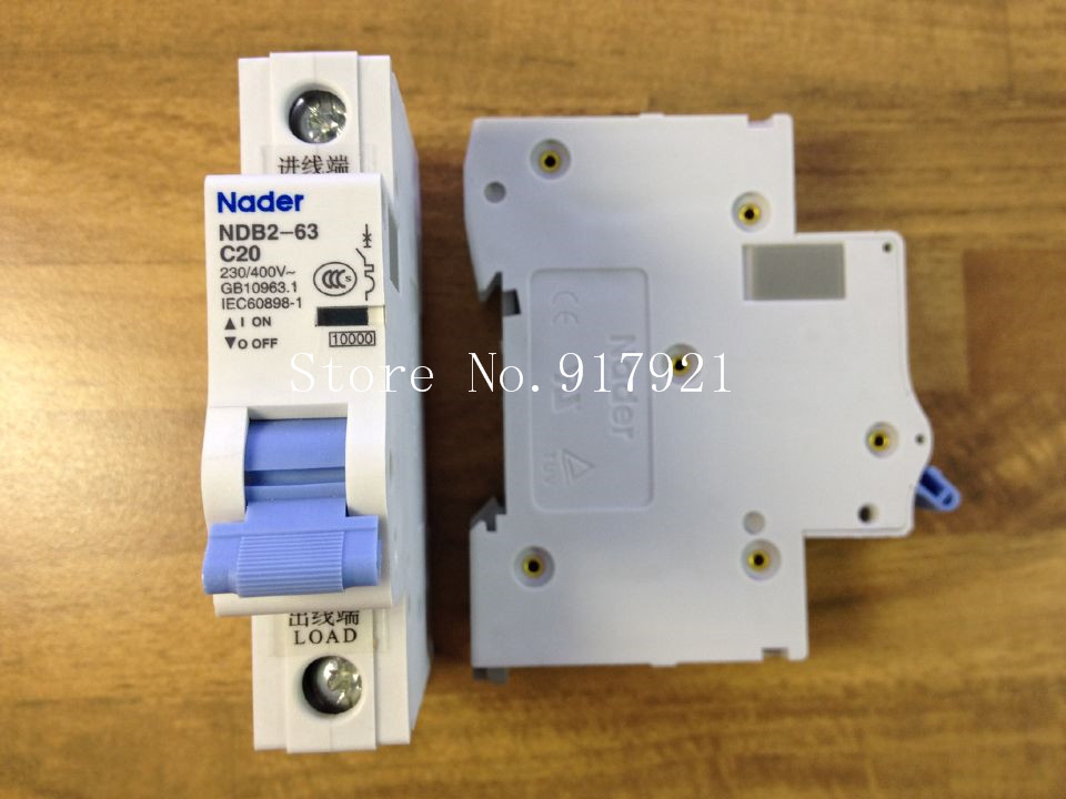 [ZOB] Nader letter NDB2-63 C20 miniature circuit breaker 1P20A unipolar air switch to ensure genuine --12pcs/lot