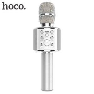 Image 1 - HOCO ميكروفون الكاريوكي بلوتوث اللاسلكية مكثف مايكروفون هاتف محمول احترافي KTV ميكروفون مشغل موسيقى ل iOS أندرويد
