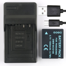 BoKa DMW-BCG10 BCG10GK Rechargeable Camera Digital Battery + USB Charger For Panasonic DMC-TZ7 DMC-TZ8 DMC-TZ9 DMC-TZ10 DMC-TZ18