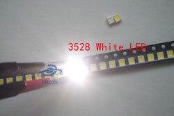 3528 LED SMD 100 قطعة الأبيض رقاقة PLCC2 PLCC4 جدا مشرق سطح جبل 20mA 3V 7-8LM ضوء-الصمام الثنائي الباعث LED 1210 SMT ضوء المصباح