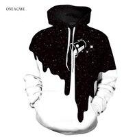 2018 3D Hoodies Men Sweatshirts Melted Skull Print Long Sleeve Casual Pullovers Streetwear Tops Spring Regular