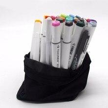 Получить скидку Touchnew Аутентичные жирной двуглавый Mark ручка шесть поколений обновить 36 60 80 цвет комиксов тонких маркеров Manga рисунок рисовать