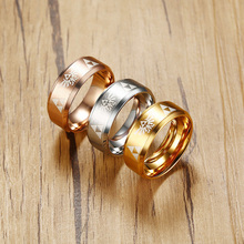 8mm Stainless Steel Triforce The Legend of Zelda Ring for Men Rose Gold Silver