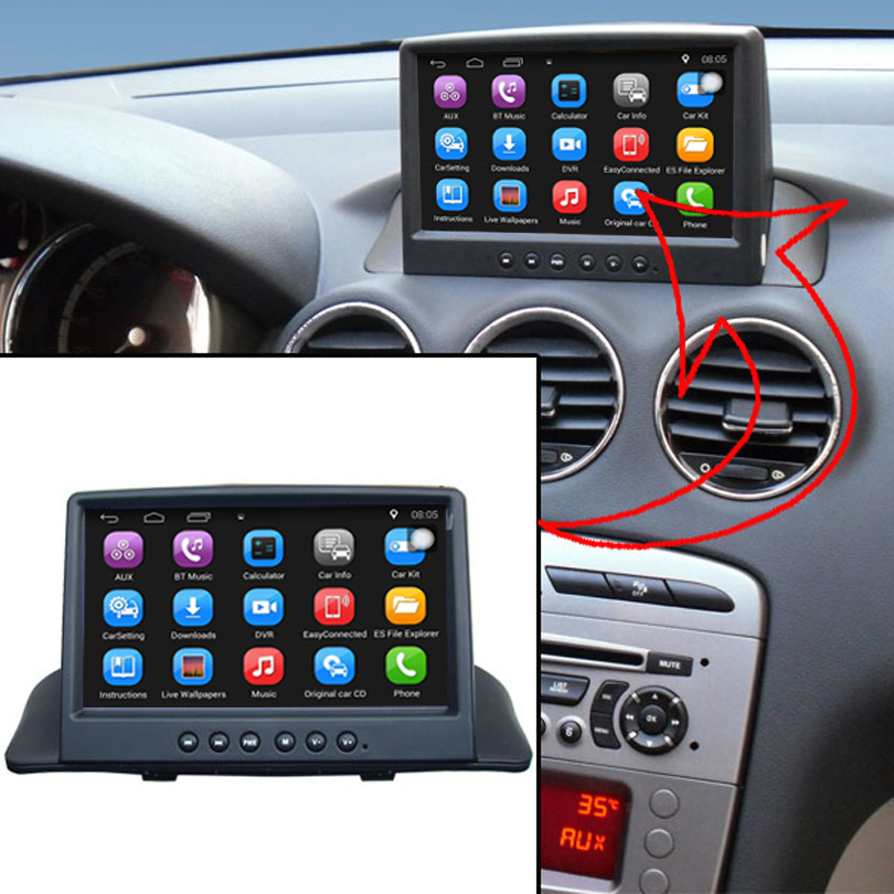 7 inch Android Car GPS Navigation for Pes