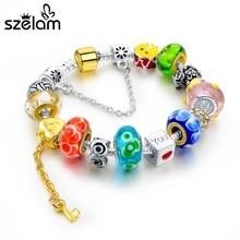 Szelam 2019 Crystal Flower Charm Bracelets For Women European Silver Bracelets & Bangles DIY Jewelry Pulseras SBR160015