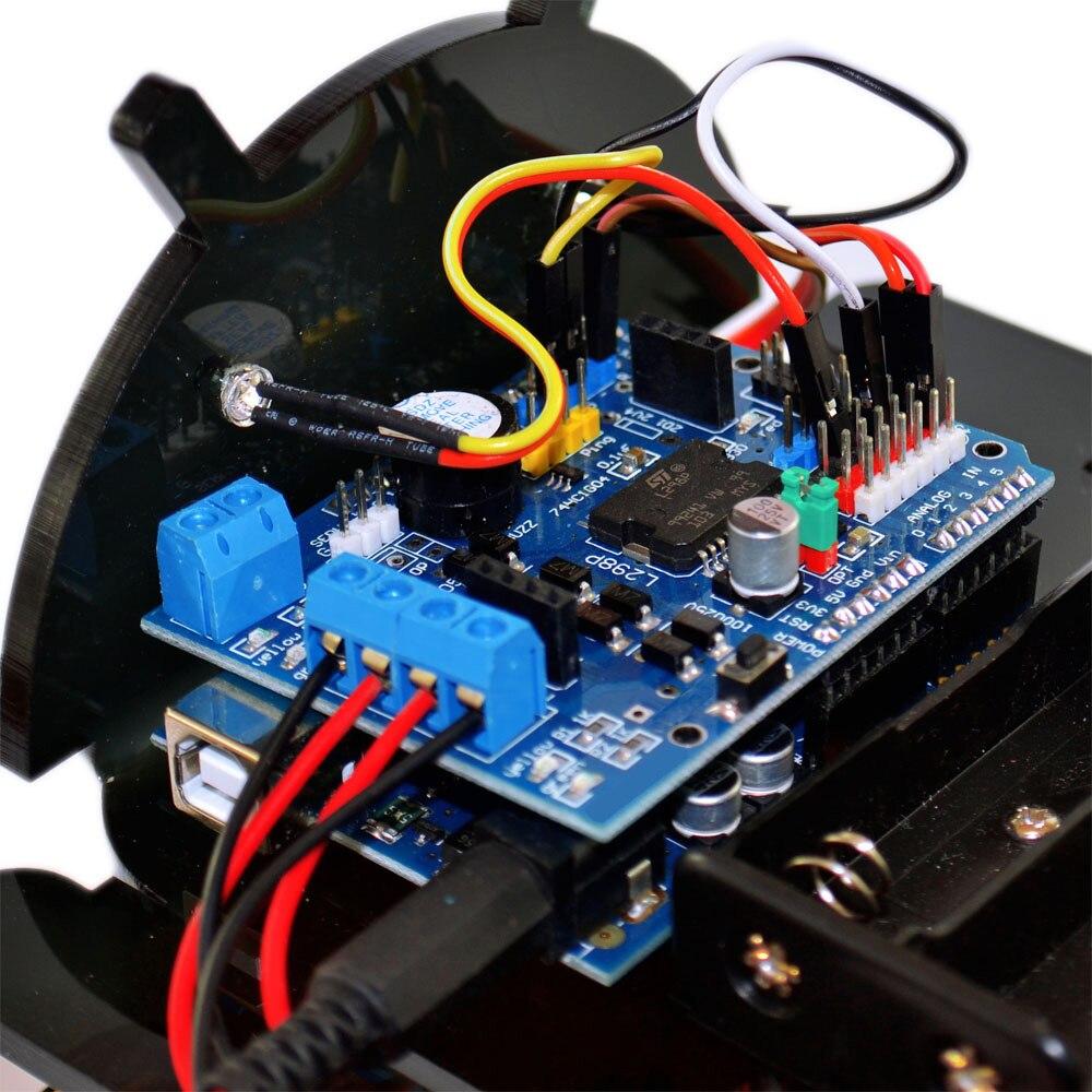 2 layer Line tracing smart carDamping balance Tank Robot Chassis Platform high power Remote Control DIY crawle shock absorption