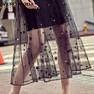 Image 4 - Vero Moda 자수 Gauzy 슬립 드레스 파티 드레스