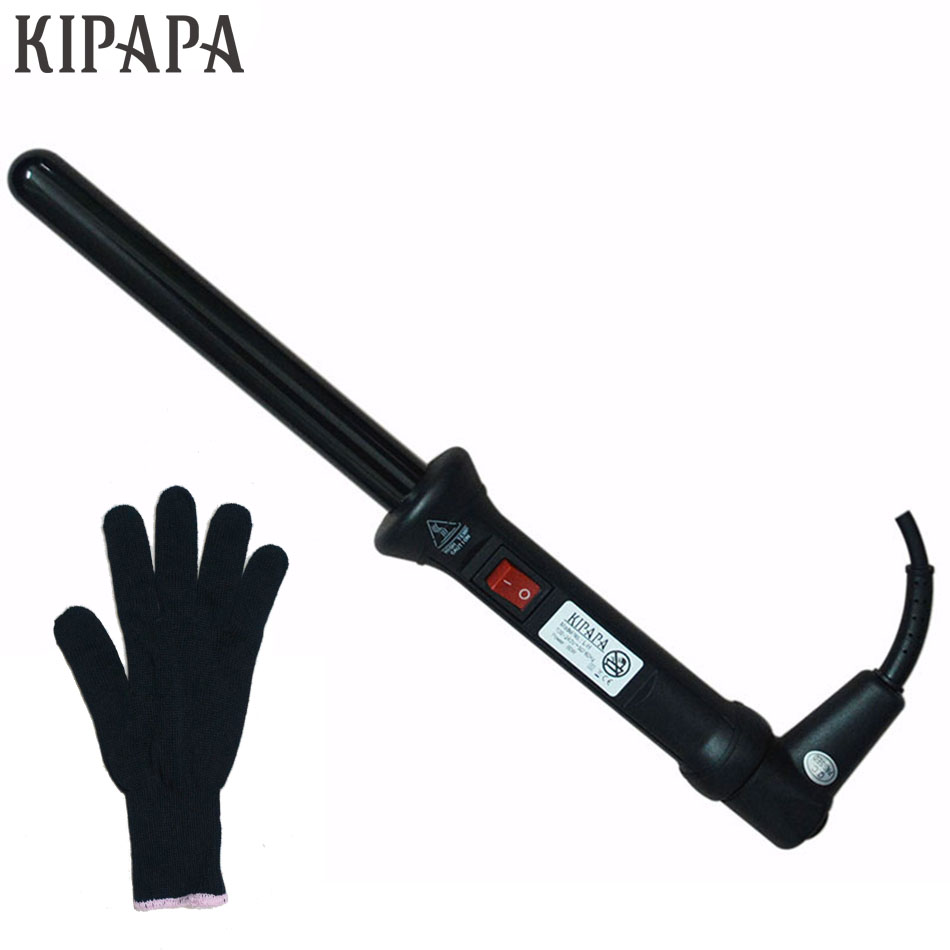 KIPAPA Curling Iron 0.75 inch with Tourmaline Ceramic Coating 19MM Hair Salon Curler Rollers Waver Maker 410F Hair Curling Wand titanium plates hair straightener lcd display straightening iron mch fast heating curling iron flat iron salon styling tools