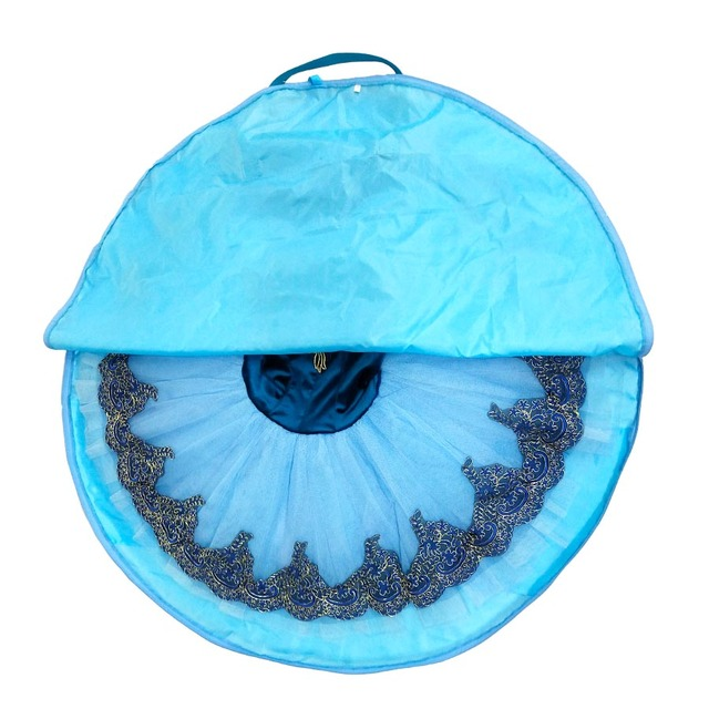 Bolsa de baile azul bolsa impermeable negra para ballet tutú Rosa lona flexible y plegable suave bolsa de Ballet para cremalleras de tutú de ballet